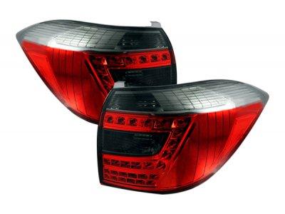 Задние фонари LED Red Smoke на Toyota Highlander II