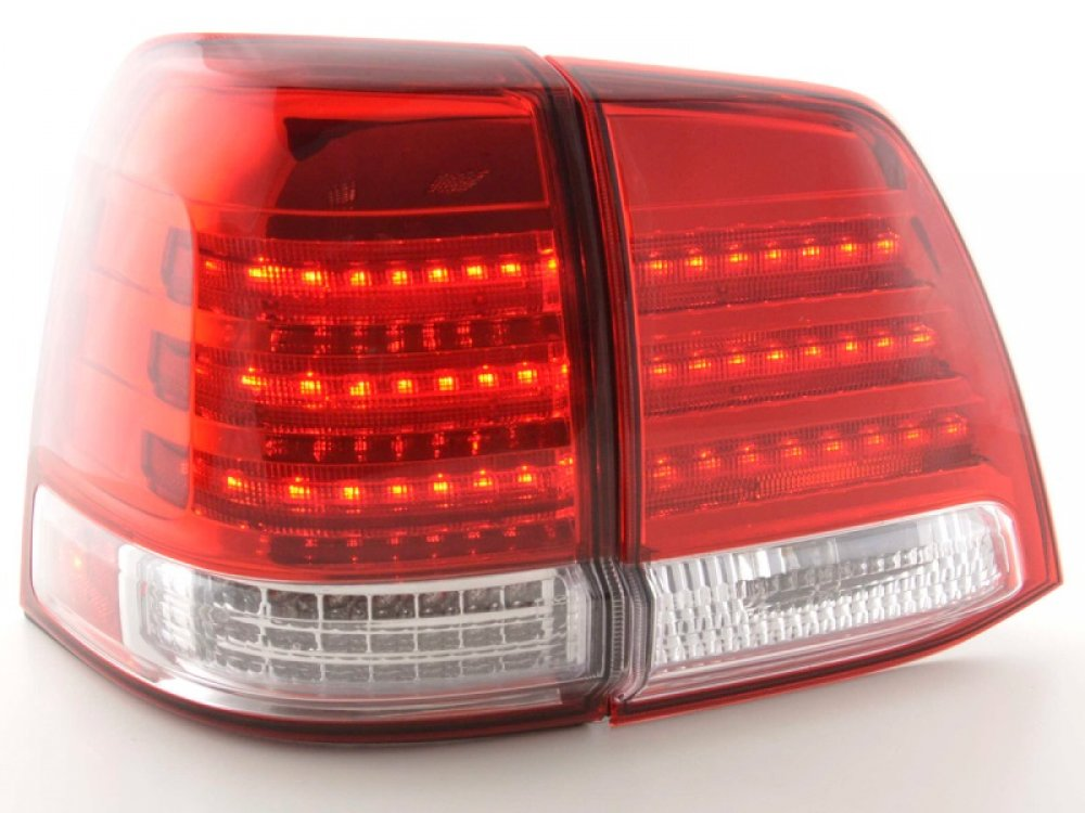Задние фонари Full LED Red Crystal на Toyota Land Cruiser 200