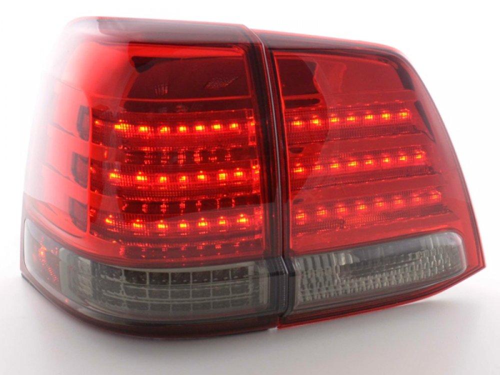 Задние фонари Full LED Red Smoke на Toyota Land Cruiser 200