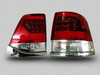 Задние фонари в стиле рестайла LED Red Crystal на Toyota Land Cruiser 200