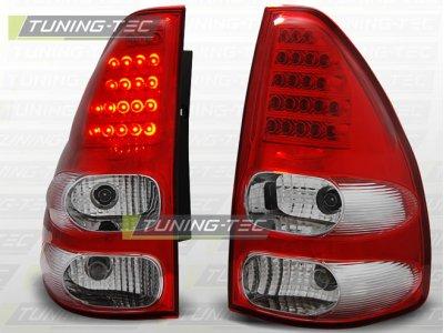 Задние фонари LED Red Crystal на Toyota Land Cruiser Prado 120